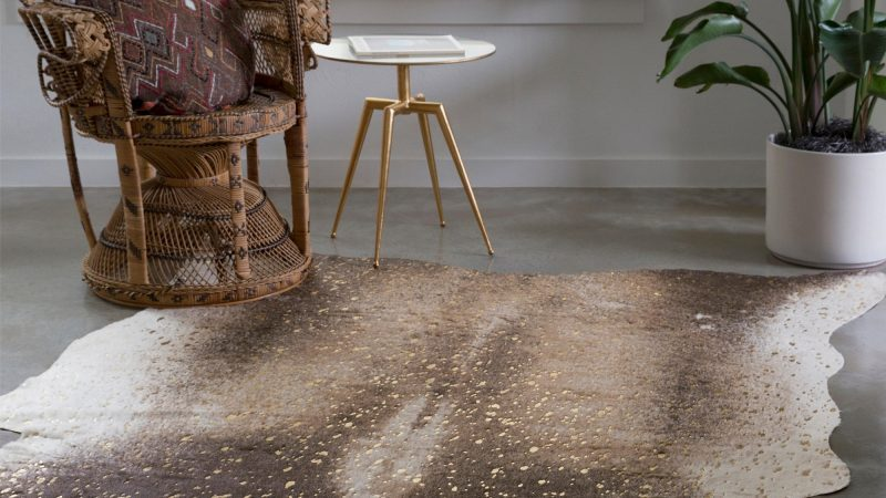 Cowhide Rug: Antique Piece For Home